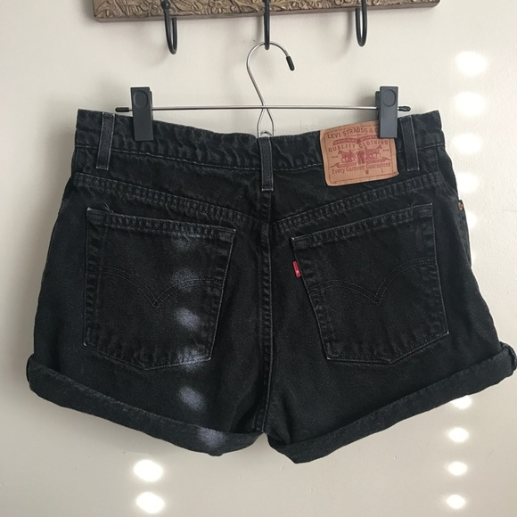 f7464bd85a Urban Outfitters Shorts   Levis Black Denim High Waisted Mom Vintage ...